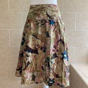 Chico's Floral and Embroidered Skirt